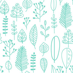 Fototapete - Seamless pattern in doodle style