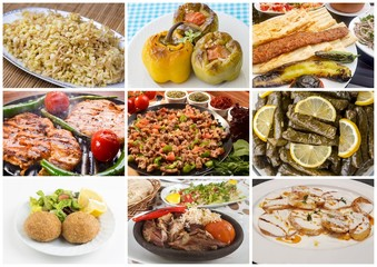 Turkish foods collage