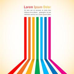 Rainbow stripes on light background. Vector illustration.