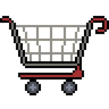 vector pixel art shopping
