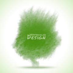 Green Watercolor splatter. Vector illustration.