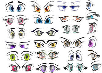 The Complete  Set of the Drawn Eyes for you Design