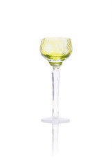 Antique crystal liqueur chalice isolated on white background