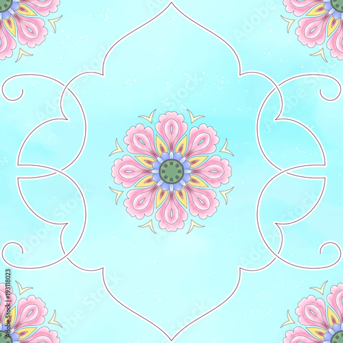 Seamless Vector Background Beautiful Floral Patterns Imitation Of