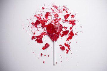 heart broken lollipop