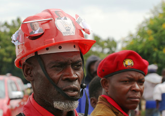 Mourners attend the funeral of Movement For Democratic Change (MDC) leader, Morgan Tsvangirai, in Buhera