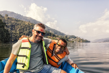 Crossing Lake Phewa, Pokhara, Nepal