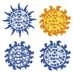 Sun book edycation (logo,background)