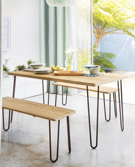 Dining room with table interior