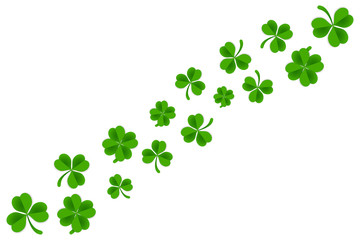 Clover frame template isolated in white background. Saint patrick's day background template.