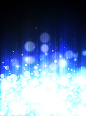 Blue glitter sparkles defocused rays lights bokeh radial vertical  abstract background/texture.