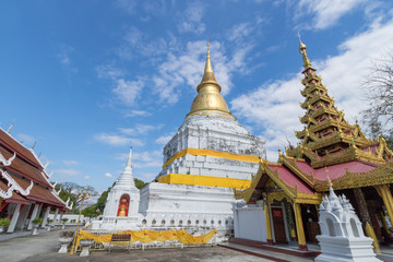 Pagoda at WAT PHRA KAEO DON TAO temple in Lampang Province, Thailand