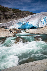 Nigardsbreen glacier in summer, Norway