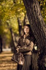 beautiful woman outdoor