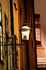 Old metal streetlamp
