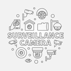 Surveillance camera illustration - vector CCTV symbol