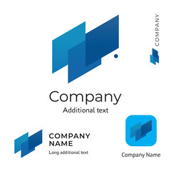 Abstract Technological Logo Design Modern Clean Identity Brand and App Icon Commercial Symbol Concept Set Template