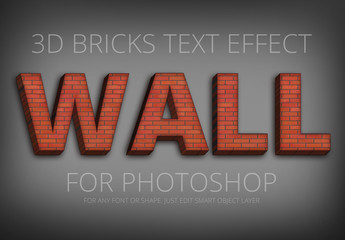 Red Brick Wall Text Effect 1