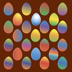 Easter eggs for Easter holidays design on colorful background.