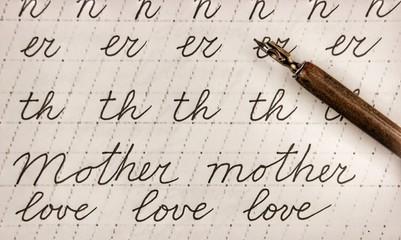 calligraphy exercises
