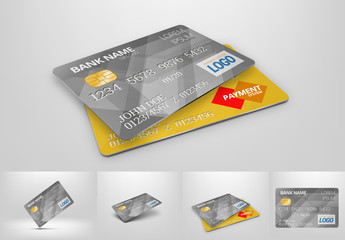4-in-1 Credit Card Mockup Set