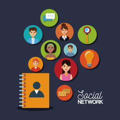 Social network and media icons vector illustration graphic design