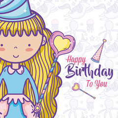 Happy birthday card for girls