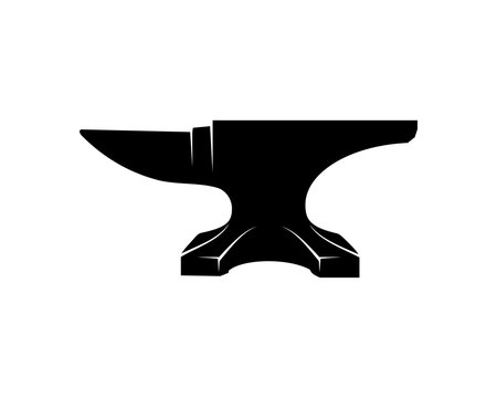 Anvil for Blacksmith Illustration Symbol Vector Logo Silhouette