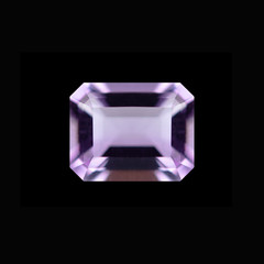Purple Gemstone in black background