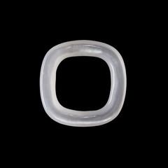 White Gemstone in black background