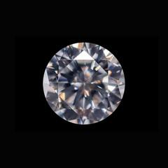 Diamond in black background