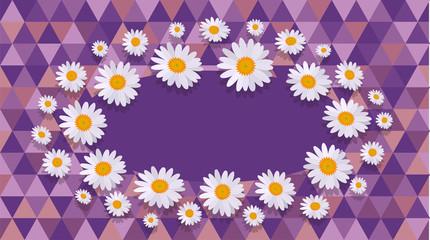 daisy purple Celebration card