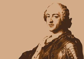 Louis XV - portrait - roi de France - personnage historique - personnage célèbre - histoire
