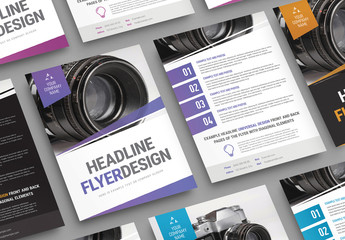 Angled Overlay Business Flyer Layout