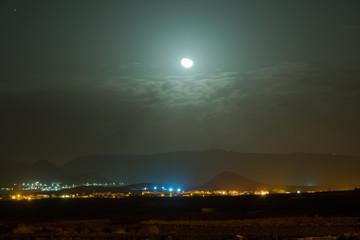 Panorama notturno - Luna che sorge