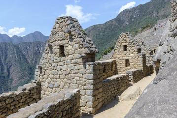 Ancient buildings of Machu Picchu, Peru
