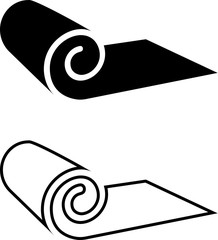 Roll Icon, Mat, Rug, Carpet Or Paper Roll Icon Of Anything,