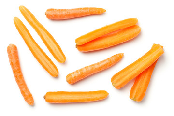 Baby Carrots Isolated on White Background