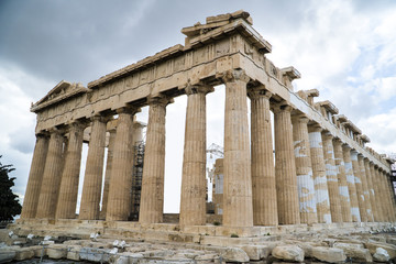 Foto auf AluDibond Historisches Gebaude Parthenon temple on the Athenian Acropolis in Greece