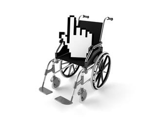 Wheelchair with internet cursor