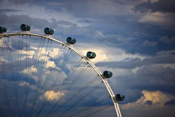Large ferris wheel in Singapore.