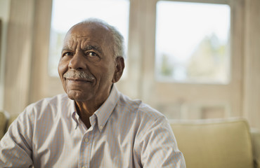 Portrait of a content senior man.