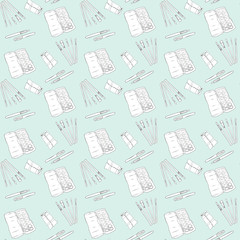 Art Supply Seamless Pattern