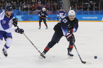 Olympics: Ice Hockey-Men Team Qualification Match for Quarterfinal - USA-SVK