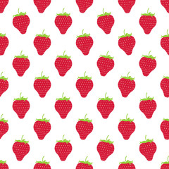 Seamless pattern with strawberries. Harvest time. A delicious sweet dessert.