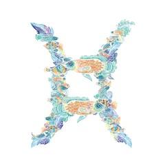 Pisces Vector Zodiac Sign