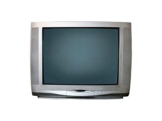 Older television on white background