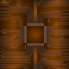 cpu abstract technology. Vector illustration.