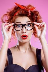 wonder girl in glasses