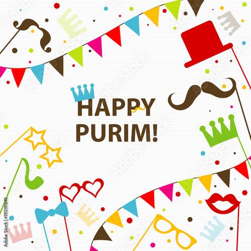 Template jewish holiday purim greeting card crown vector stock template jewish holiday purim greeting card crown vector m4hsunfo